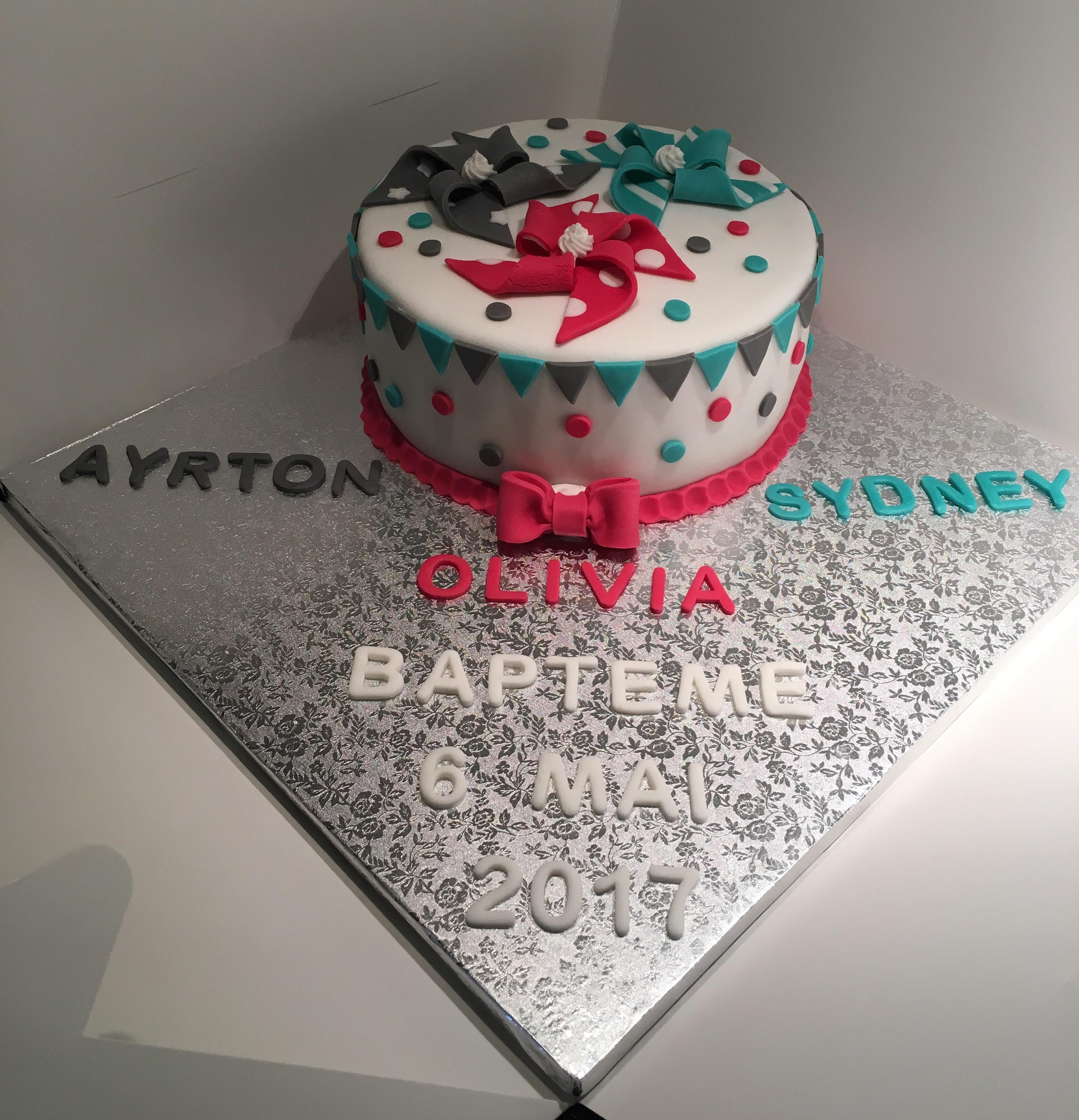 Cake Design Bapteme